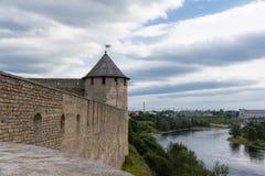Ivangorod Festung Lizenzfreie Stockbilder