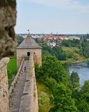 Ivangorod-Festung in der Leningrad-Region, Russland Stockfotografie