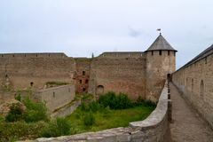 Ivangorod Fortress. Russian medieval castle Royalty Free Stock Photos