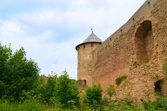 Ivangorod Fortress. In Leningrad Oblast, Russia Royalty Free Stock Photography