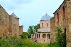 Ivangorod Fortress. In Leningrad Oblast, Russia Royalty Free Stock Images
