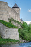 Ivangorod fortress on the banks of the Narva River. Border post Stock Photography