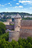 Ivangorod fortress at the border of Russia and Estonia Stock Photo