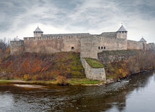Ivangorod fortress at the Narva river. Stock Photography