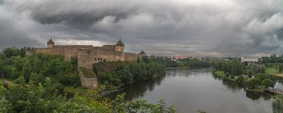 Medieval fortification, summer evening Royalty Free Stock Photography