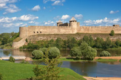 Ivangorod fortress, Russia Royalty Free Stock Photography