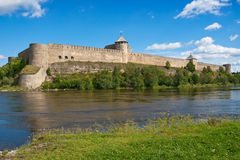 Ivangorod fortress, Russia Stock Photography