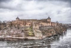 Ivangorod. Russia. Ivangorod Fortress Stock Photos