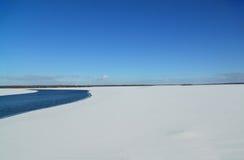 Ivankovskoye Reservoir in Tver region, Russia Stock Photography