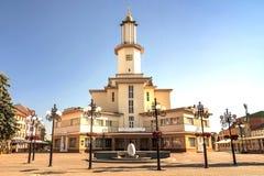 Ivano-Frankivsk市,乌克兰的中心,在夏天2016年 的treadled 免版税图库摄影