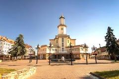 Ivano-Frankivsk市,乌克兰的中心,在夏天2016年 的treadled 库存图片
