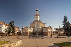 Ivano-Frankivsk市,乌克兰的中心,在夏天2016年 的treadled 免版税库存照片