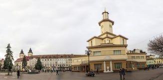 Ivano-Frankivsk市,乌克兰的中心,在秋天2016年 的treadled 图库摄影