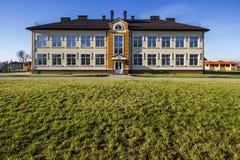 Ivano-Frankivsk Ukraina - December 22, 2017: Ny modern buildin royaltyfria bilder