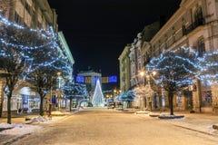 Ivano-Frankivsk Ukraina, Styczeń, - 1, 2017: Nowy Rok sosny d Obraz Royalty Free