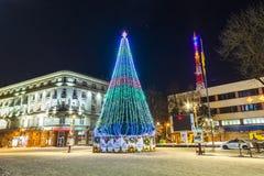 Free Ivano-Frankivsk, Ukraine - January 1, 2017: New Year Pine Tree D Stock Images - 103023884