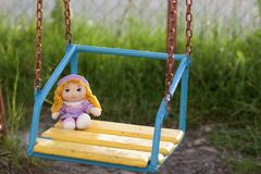 Ivano-Frankivsk, Ukraine - 27 June, 2017: Little hand made doll Royalty Free Stock Images