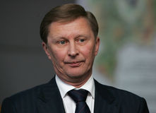 Ivanov, Russia's First Deputy. Sergei Ivanov, Russia's First Deputy Prime Minister, attends an official meetiing on December 9, 2007 Royalty Free Stock Image