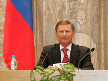Ivanov, Russia's First Deputy Prime Minister Stock Photos