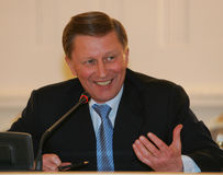 Ivanov, Russia's First Deputy Prime Minister Stock Images