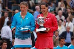 Ivanovic & Safina Roland Garros 2008 (154) Royalty Free Stock Photos