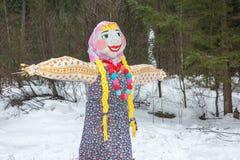 Ivanovo, Rusia, el 22 de febrero de 2015 En el día de fiesta de Maslenitsa Foto de archivo libre de regalías