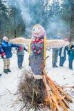 Ivanovo, Rusia, el 22 de febrero de 2015 En el día de fiesta de Maslenitsa fotografía de archivo