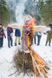 Ivanovo, Russia, February 22, 2015. On the holiday of Maslenitsa. royalty free stock image