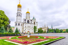 Ivanovo Square of the Moscow Kremlin. view of the bell tower of Stock Images