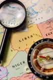 Ivanovsk, Россия - 24-ое января 2019: Ливия на карте мира стоковые фото