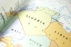 Ivanovsk Rosja, Listopad, - 24, 2018: Algieria na mapie świat obrazy royalty free