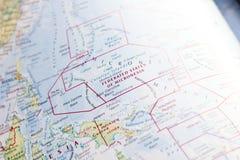 Ivanovsk Ryssland - Januari 24, 2019: Federated States of Micronesia på översikten av världen royaltyfri foto