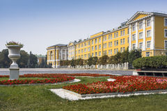 Ivanovskaya square near 14th building of Moscow Kremlin Stock Photography