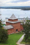 Ivanovskaya tower of the Nizhny Novgorod Kremlin. Russia Royalty Free Stock Images