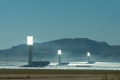 The ivanpah power plant Stock Photography
