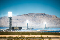 Ivanpah Solar Thermal Plant Stock Images