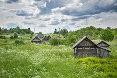 Ivanteevo Village. Abandoned wooden houses in Russia Royalty Free Stock Image