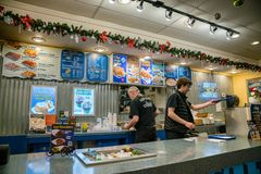 Ivars Seafood Bar royalty free stock image