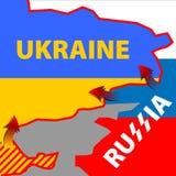 Ivasion de Rassian en Ucrania Imagen de archivo libre de regalías