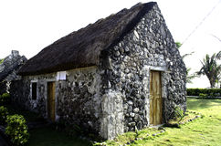 Ivatan Old Houses Ruins Batanes Philippines Royalty Free Stock Photos