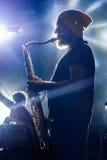 Ive de saxophoniste sur l'étape Photos stock