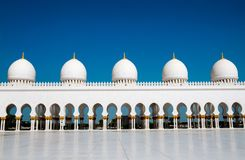 Ive domes of Sheikh Zayed Mosque Royalty Free Stock Images