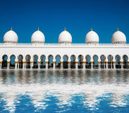 Ive domes of Sheikh Zayed Mosque Stock Images