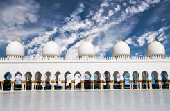 Ive domes of Sheikh Zayed Mosque Stock Image