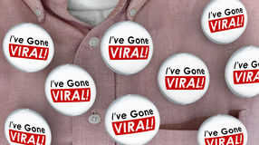 Ive Gone Viral Social Media Buzz Sharing Networking Buttons Pins Stock Photography