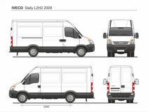 Iveco Dzienny L2H2 2009 ładunek Doręczeniowy Van royalty ilustracja
