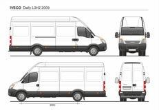 Iveco Dzienny L3H2 2009 ładunek Doręczeniowy Van royalty ilustracja