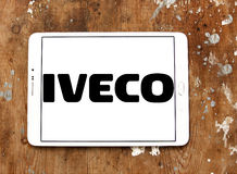 Iveco logo. Logo of the Italian industrial vehicle manufacturing company iveco on samsung tablet on wooden background royalty free stock photography