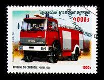 Iveco-Magirus TLF 24/50, serie dei camion dei vigili del fuoco, circa 2000 Fotografia Stock Libera da Diritti