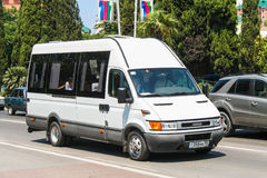 Iveco Daily. SOCHI, RUSSIA - JULY 26, 2009: Passenger van Iveco Daily in the city street stock photos